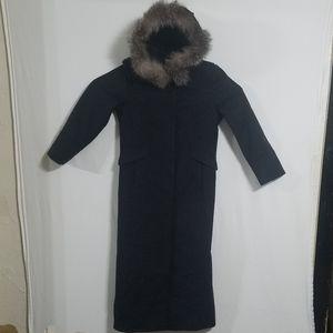 Michael Kors Womens Sz 8 Fox Fur Wool Coat Parka